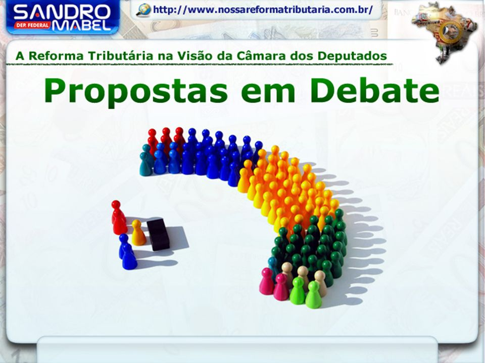 A PEC 233/2008, do Poder Executivo, se junta a outras propostas já em tramitação, e todas serão apreciadas na Comissão Especial da Câmara dos Deputados: PEC 31/07 Dep.