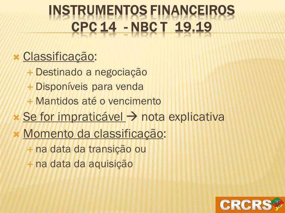 O que são instrumentos financeiros NÃO DERIVATIVOS CDBs, títulos do governo, debêntures, ações, quotas, notas promissórias, etc.