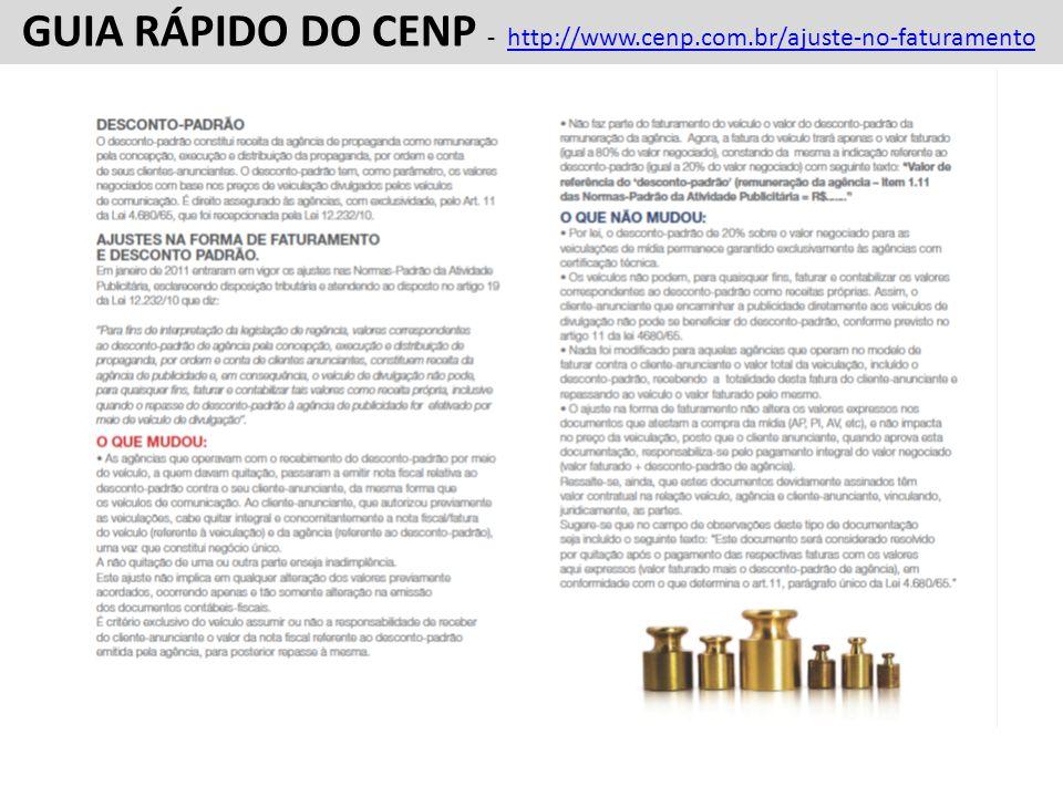 FATURAMENTO FORMATO 1 FATURAMENTO FORMATO 1 GUIA RÁPIDO DO CENP - SOBRE AJUSTES E RECOMENDAÇÕES AP - AUTORIZAÇÃO DE PUBLICAÇÃO