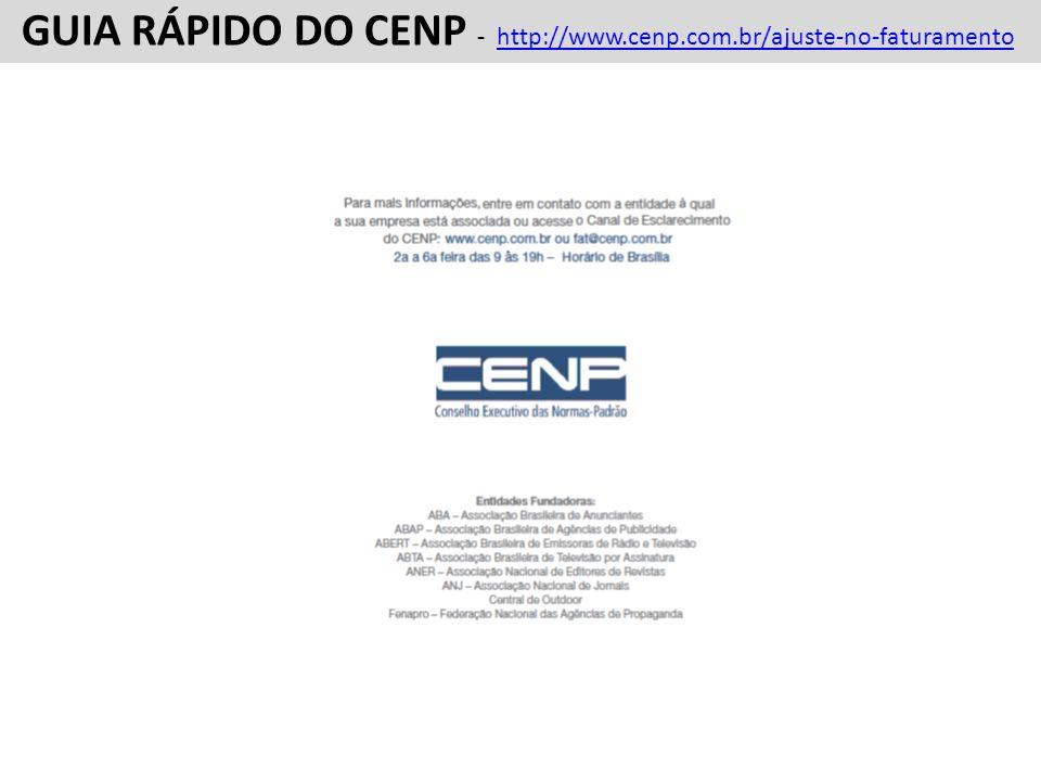 GUIA RÁPIDO DO CENP - http://www.cenp.com.br/ajuste-no-faturamentohttp://www.cenp.com.br/ajuste-no-faturamento