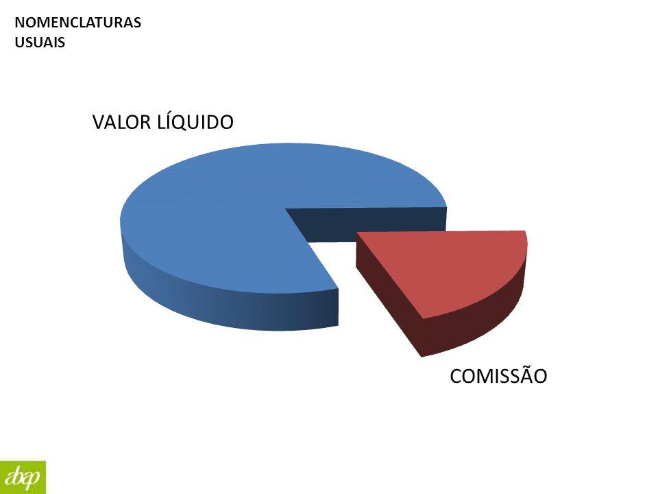 VALOR LÍQUIDO COMISSÃO NOMENCLATURAS USUAIS