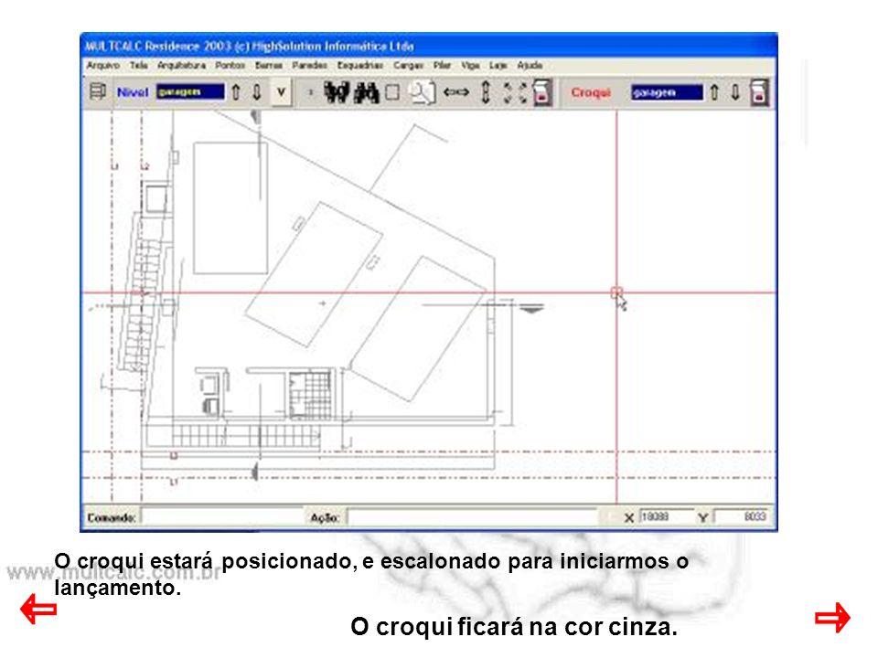 © Célio Silvestre 1995-2004 Geometria 4.1 Lançamento do piso Fundação, sobre o croqui.