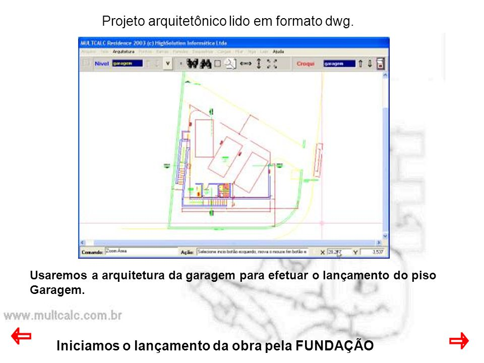 Agosto 2003 Iremos informar o ponto base do projeto.
