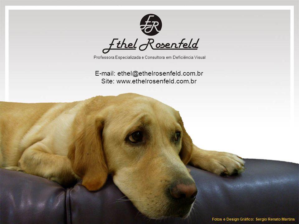 Ethel Rosenfeld E-mail: ethel@ethelrosenfeld.com.br Site: www.ethelrosenfeld.com.br Professora Especializada e Consultora em Deficiência Visual Fotos