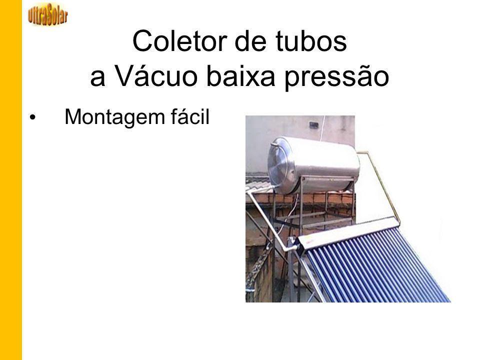 Coletor de tubos a Vácuo baixa pressão Montagem fácil
