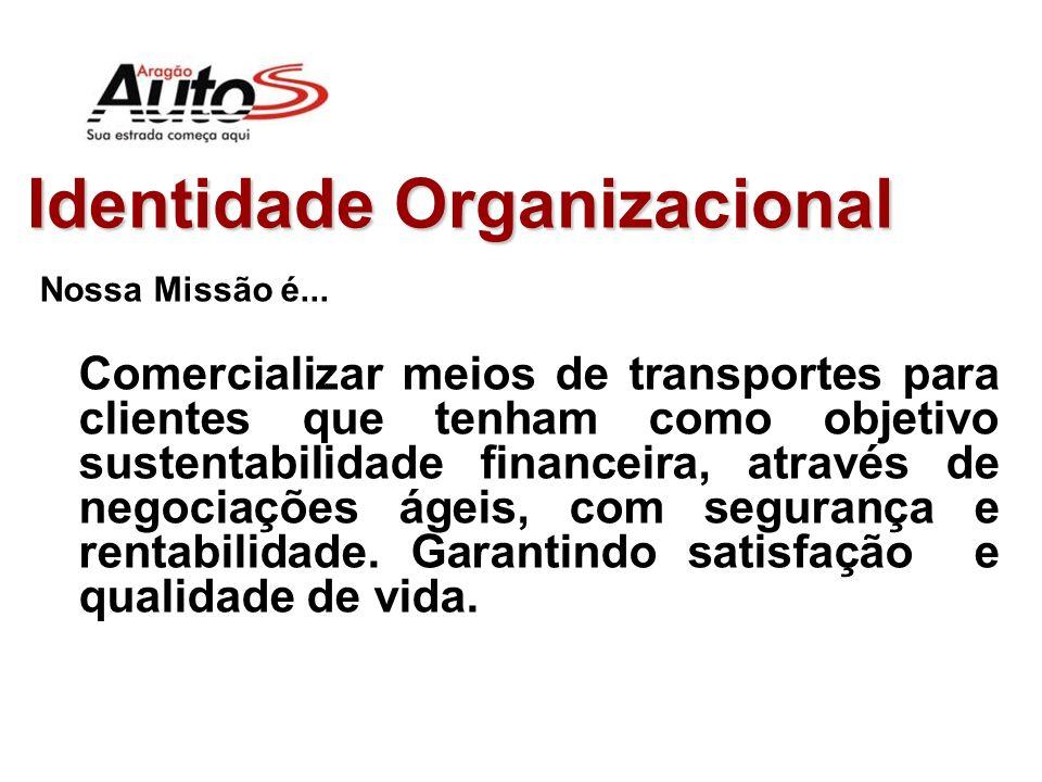 Identidade Organizacional Nosso Negócio é... Visão Restrita: Transporte Visão Ampla: Sustentabilidade Financeira (esta é a primeira diferença entre co