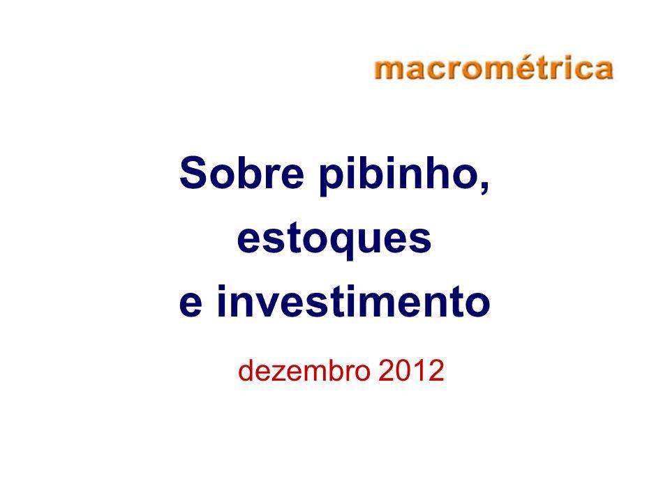 Sobre pibinho, estoques e investimento dezembro 2012