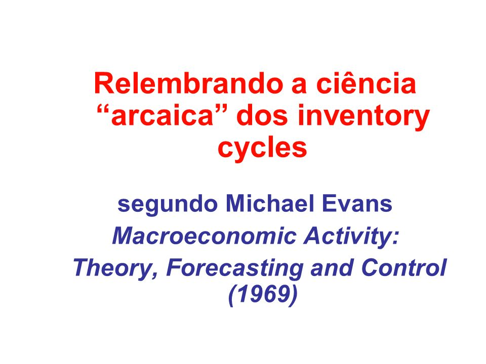 ...inventory investment has consistently fluctuated more than any other component of aggregate demand during recessions.