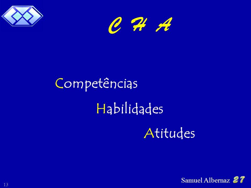 Samuel Albernaz 13 C H A Competências Habilidades Atitudes