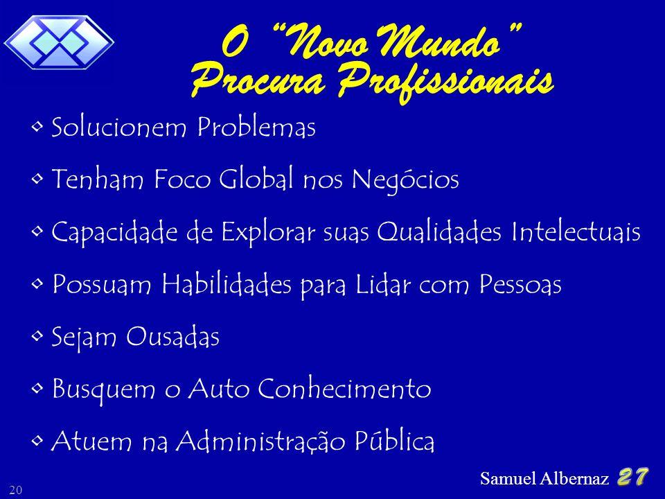 Samuel Albernaz 20 Solucionem Problemas Tenham Foco Global nos Negócios Possuam Habilidades para Lidar com Pessoas Sejam Ousadas Busquem o Auto Conhec