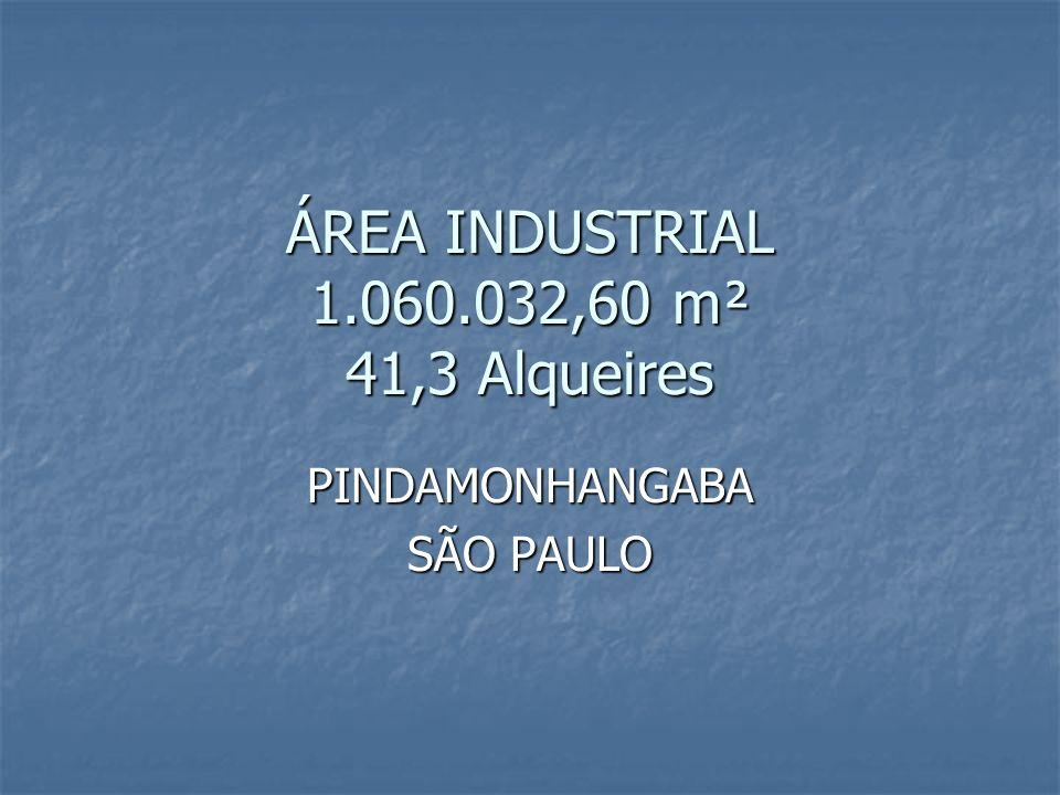 ÁREA INDUSTRIAL 1.060.032,60 m² 41,3 Alqueires PINDAMONHANGABA SÃO PAULO