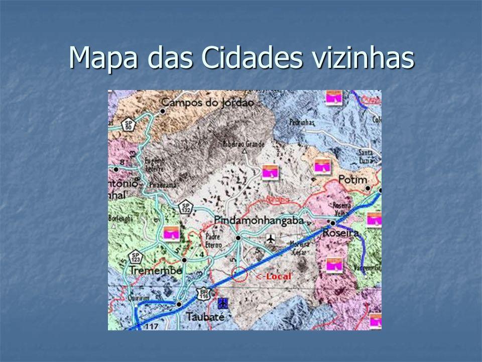 Mapa das Cidades vizinhas