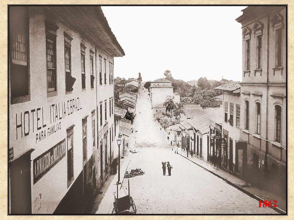 Em 1860, com a recente chegada da fotografia ao Brasil, começam a surgir as primeiras fotos da cidade. Aqui, uma imagem tomada por Militão de Azevedo,