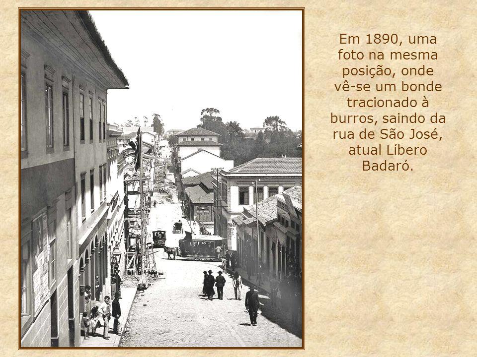 Na foto à esquerda, vista na direção centro, e abaixo, na direção bairro, onde se destaca o tradicional Bar Brahma (com toldos em vermelho) 2010 O alto edifício, visto à direita na foto ao lado, é o Andraus, que em 1972 sofreu um pavoroso incêndio, que tomou todos seus andares, e vitimou dezenas de pessoas
