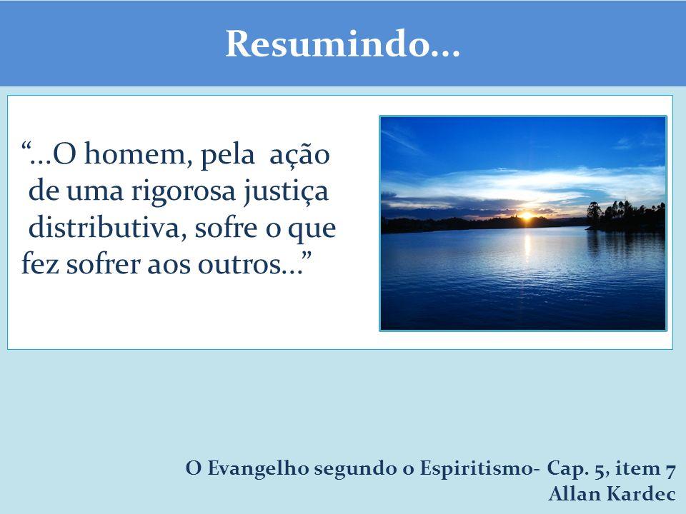 Resumindo......O homem, pela ação de uma rigorosa justiça distributiva, sofre o que fez sofrer aos outros...