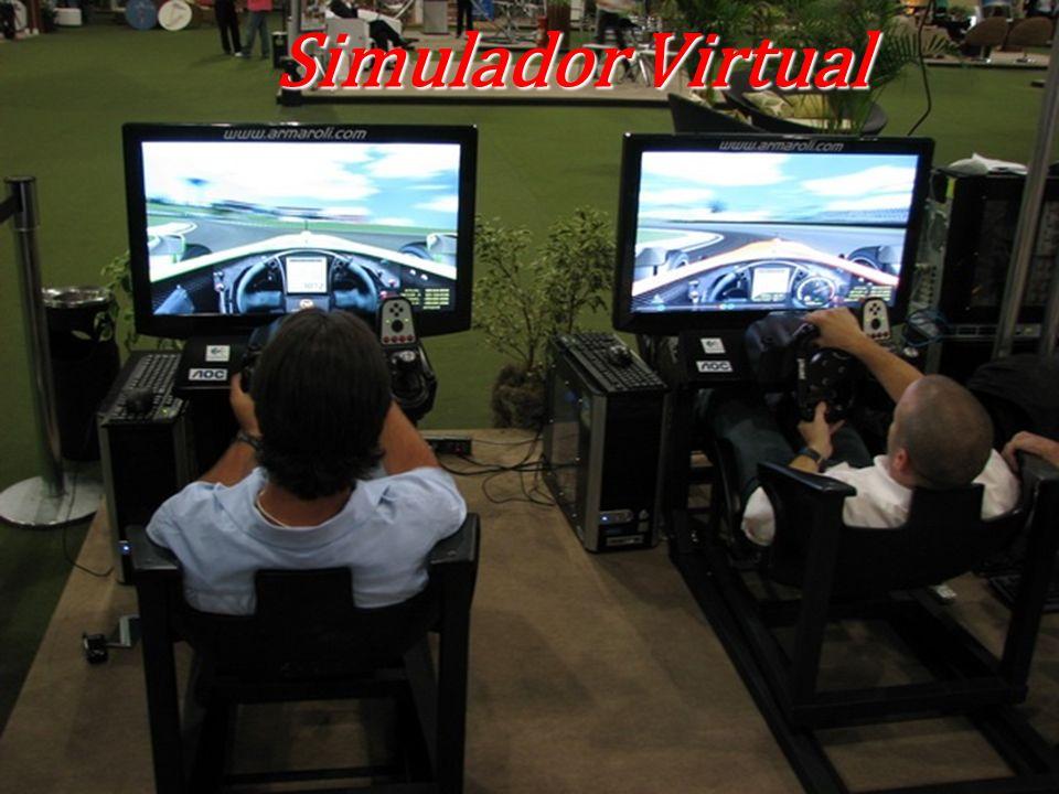 Simuladores Com uma grande atração de simuladores na área dos boxs, os nossos convidados irão participar e desfrutar das maiores experiência em uma corrida de carro virtual.