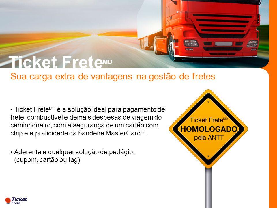 Ticket Frete MD é a solução ideal para pagamento de frete, combustível e demais despesas de viagem do caminhoneiro, com a segurança de um cartão com c