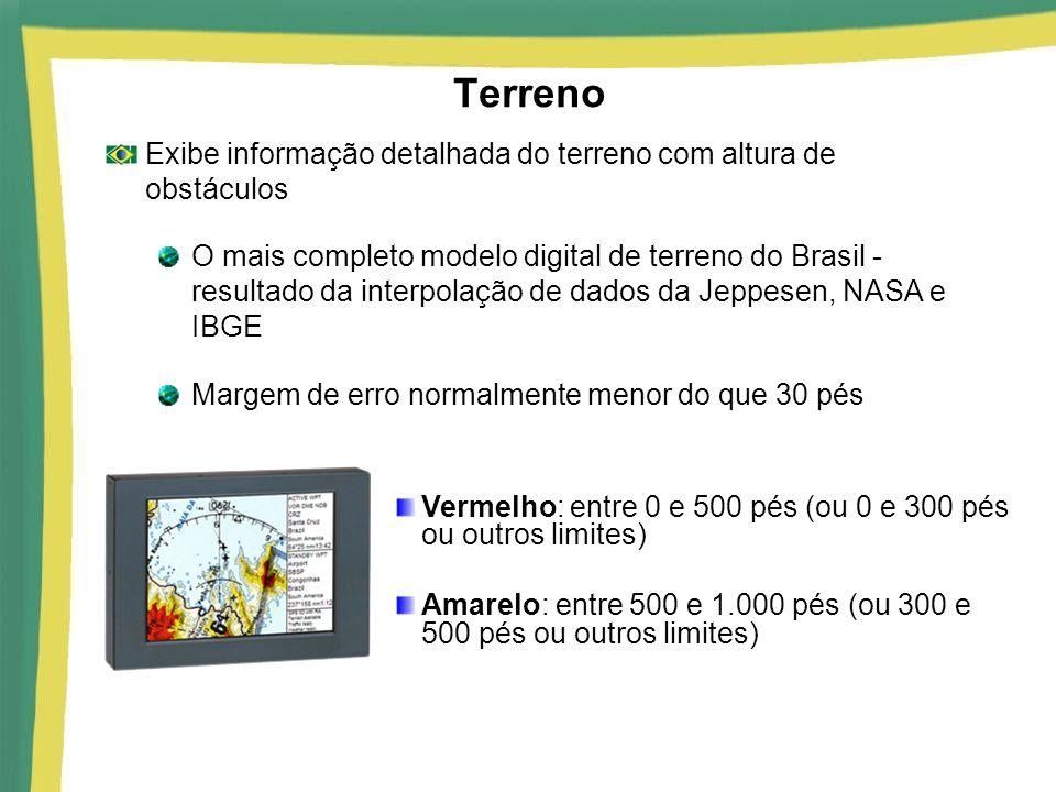 Terreno Exibe informação detalhada do terreno com altura de obstáculos O mais completo modelo digital de terreno do Brasil - resultado da interpolação