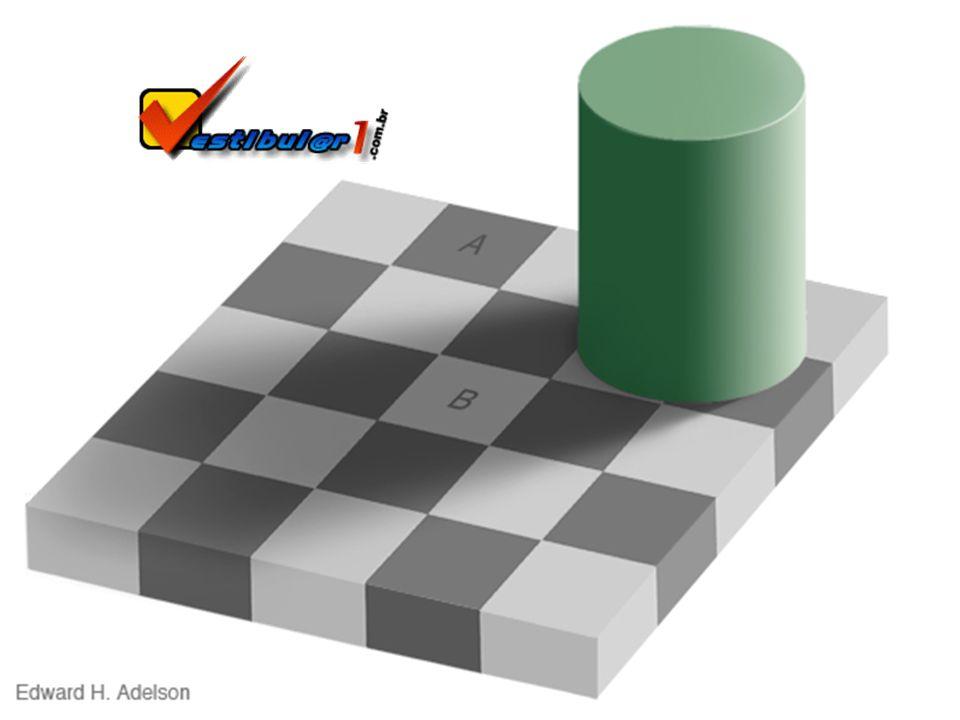As cores dos quadrados A e B são iguais!?