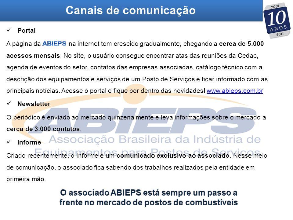 Canais de comunicação O associado ABIEPS está sempre um passo a frente no mercado de postos de combustíveis