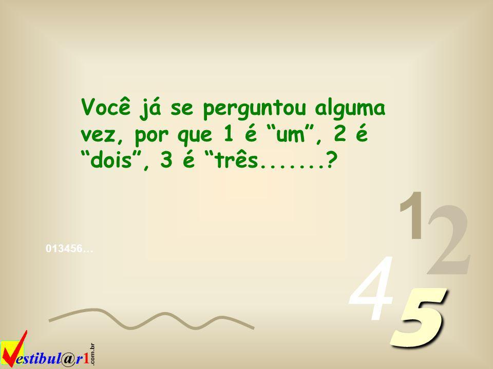 013456… 1 2 4 5 Mais curiosidades no Vestibular1 wwww wwww wwww....