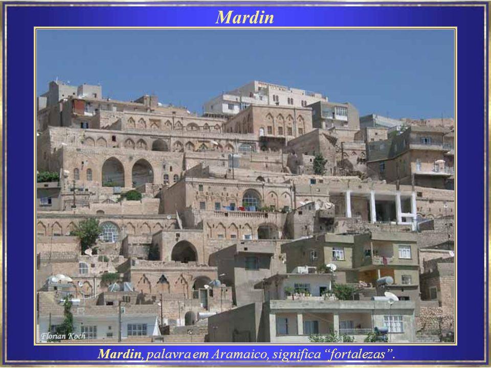 Mardin Mardin é conhecida por sua arquitetura em estilo árabe, e por sua posição estratégica sobre uma montanha rochosa, que guarda as planícies do norte da Siria.