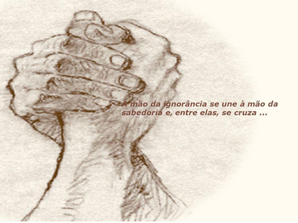 a mão de mestre do Cristo.