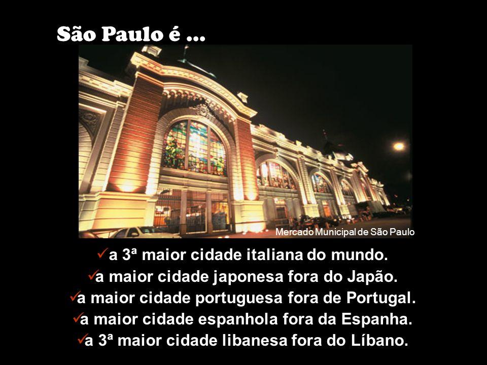São Paulo é a capital dos eventos e da cultura na América Latina, com 90 mil eventos por ano. 75% das feiras brasileiras acontecem em São Paulo São Pa