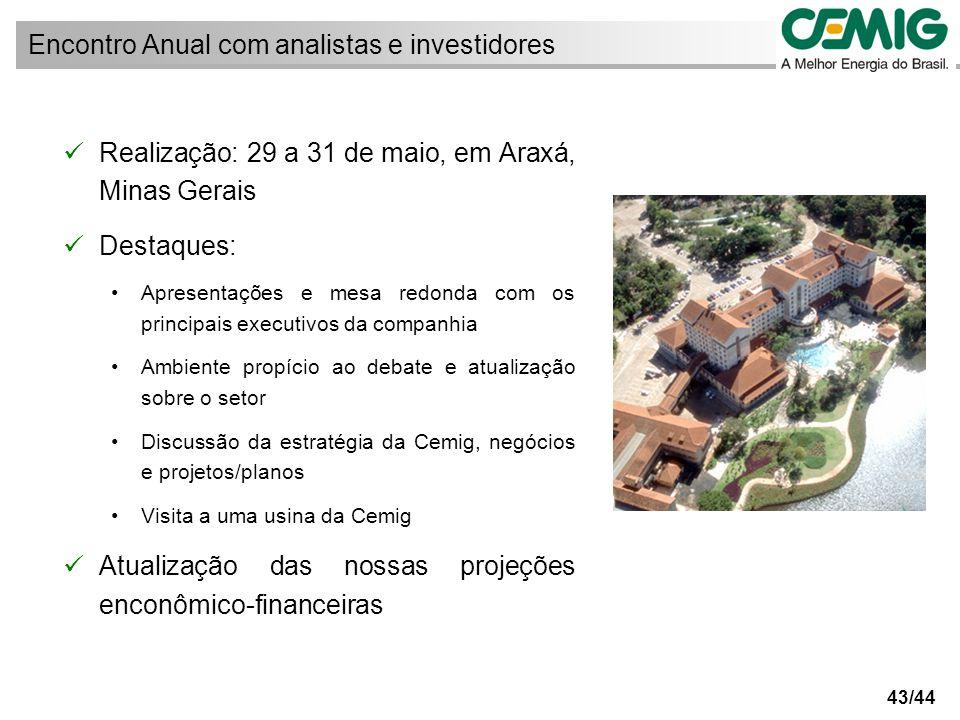 44/44 ri@cemig.com.br Telefone: (55-31) 3506-5024 Fax: (55-31) 3506-5025 Relações com Investidores