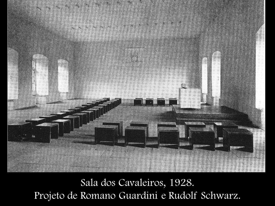 Sala dos Cavaleiros, 1928. Projeto de Romano Guardini e Rudolf Schwarz.