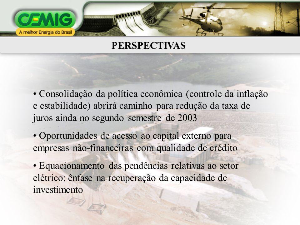 PERSPECTIVAS Consolidação da política econômica (controle da inflação e estabilidade) abrirá caminho para redução da taxa de juros ainda no segundo se