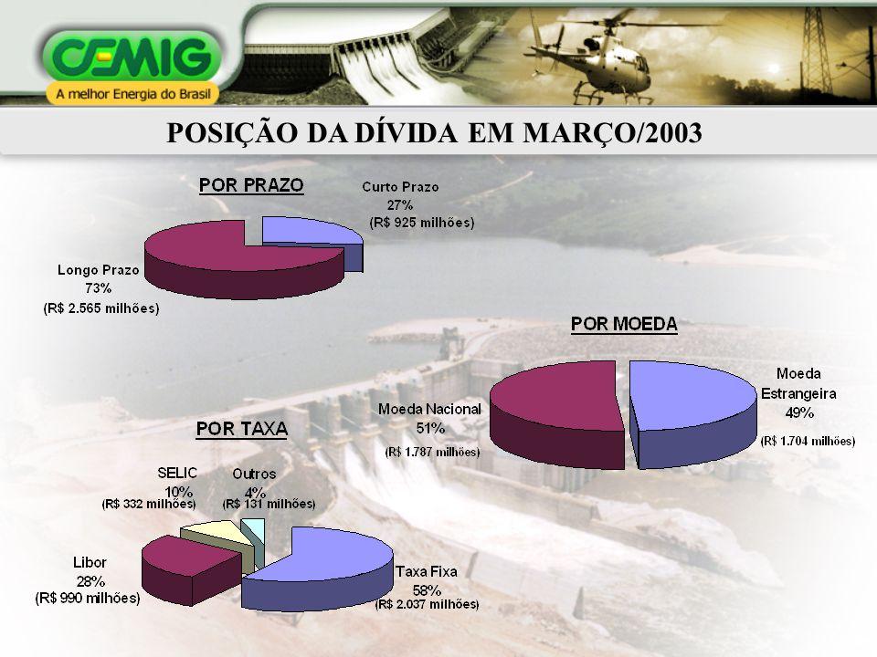 POSIÇÃO DA DÍVIDA EM MARÇO/2003