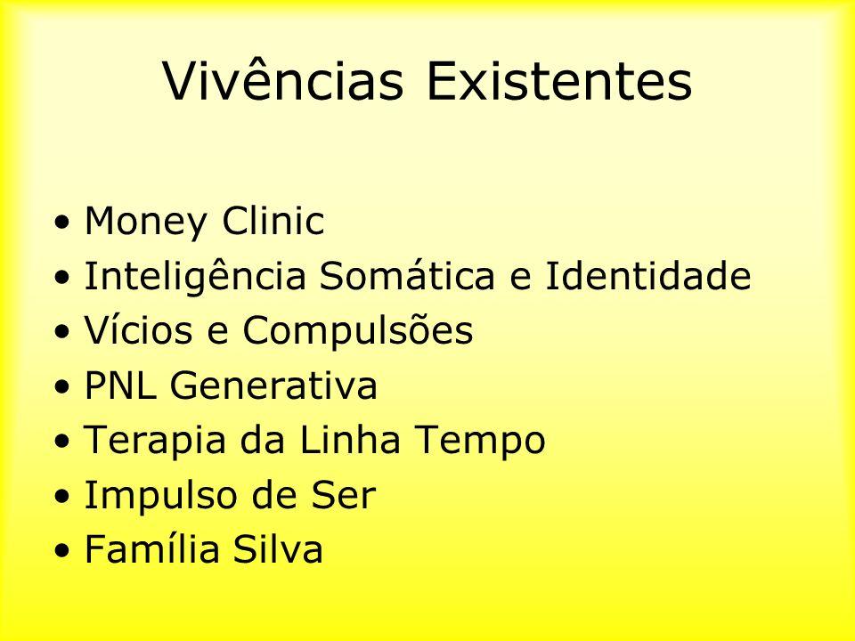 Vivências Existentes Money Clinic Inteligência Somática e Identidade Vícios e Compulsões PNL Generativa Terapia da Linha Tempo Impulso de Ser Família