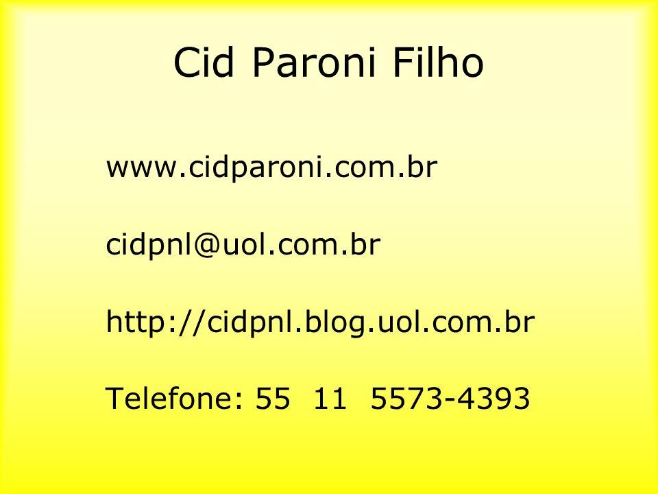 Cid Paroni Filho www.cidparoni.com.br cidpnl@uol.com.br http://cidpnl.blog.uol.com.br Telefone: 55 11 5573-4393