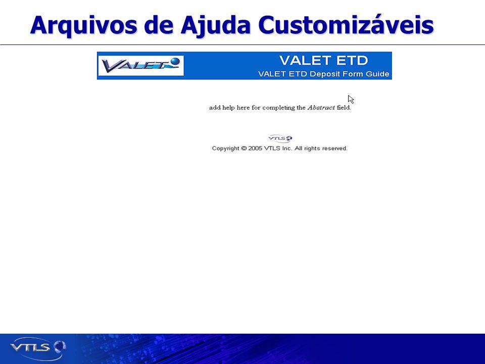 Visionary Technology in Library Solutions Arquivos de Ajuda Customizáveis