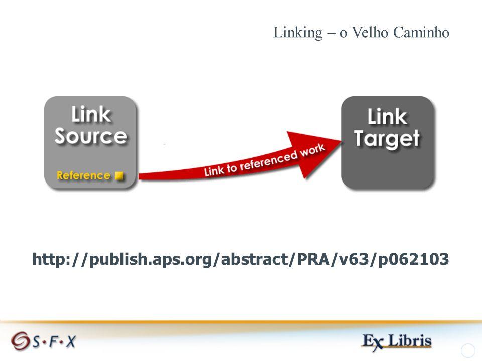 http://publish.aps.org/abstract/PRA/v63/p062103 Linking – o Velho Caminho