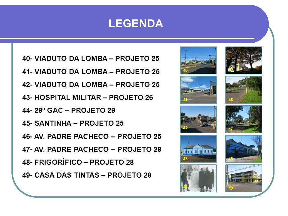 HOJE Avenida Padre Pacheco 42 43 41 44 40 45 46 47 48 49 Voluntários da Pátria COLÉGIO GABRIEL MIRANDA..