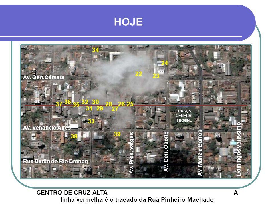 LEGENDA 01- CLUBE CRUZALTENSE - PROJETO 30 02- IGREJA DE FÁTIMA - PROJETO 22 03- ESQUINA DA PRAÇA - PROJETO 22 04- PRAÇA GEN.