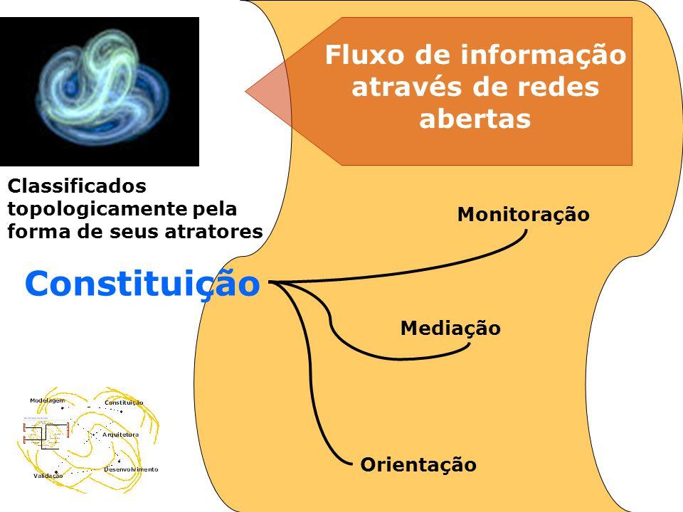 Constituição Monitoração Mediação Orientação Classificados topologicamente pela forma de seus atratores Fluxo de informação através de redes abertas