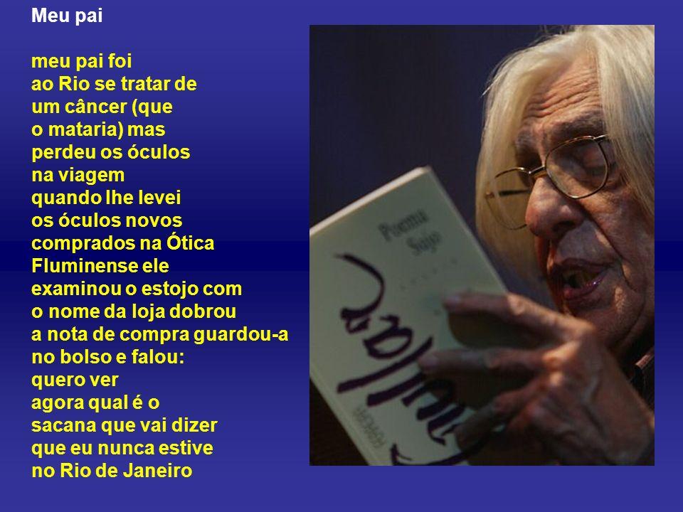 Ferreira Gullar, pseudônimo de José Ribamar Ferreira (São Luís, MA, 10 de setembro de 1930) é um poeta, crítico de arte, biógrafo, memorialista e ensa