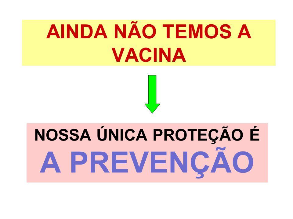 AINDA NÃO TEMOS A VACINA NOSSA ÚNICA PROTEÇÃO É A PREVENÇÃO