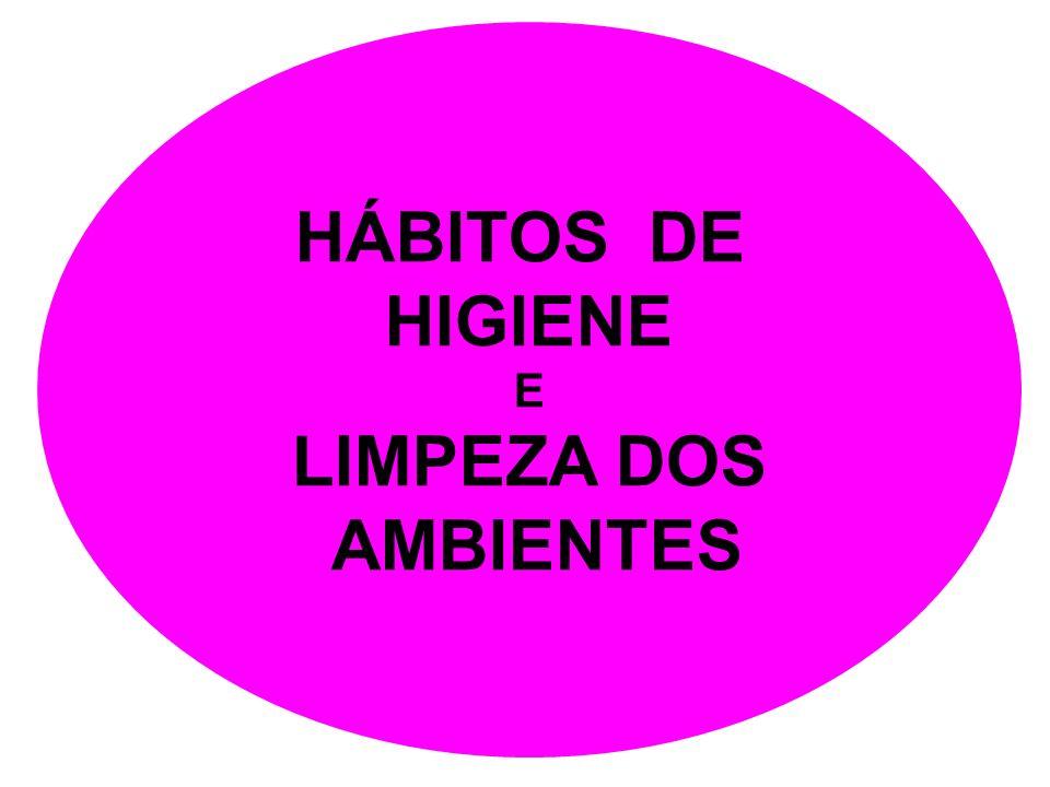 HÁBITOS DE HIGIENE E LIMPEZA DOS AMBIENTES