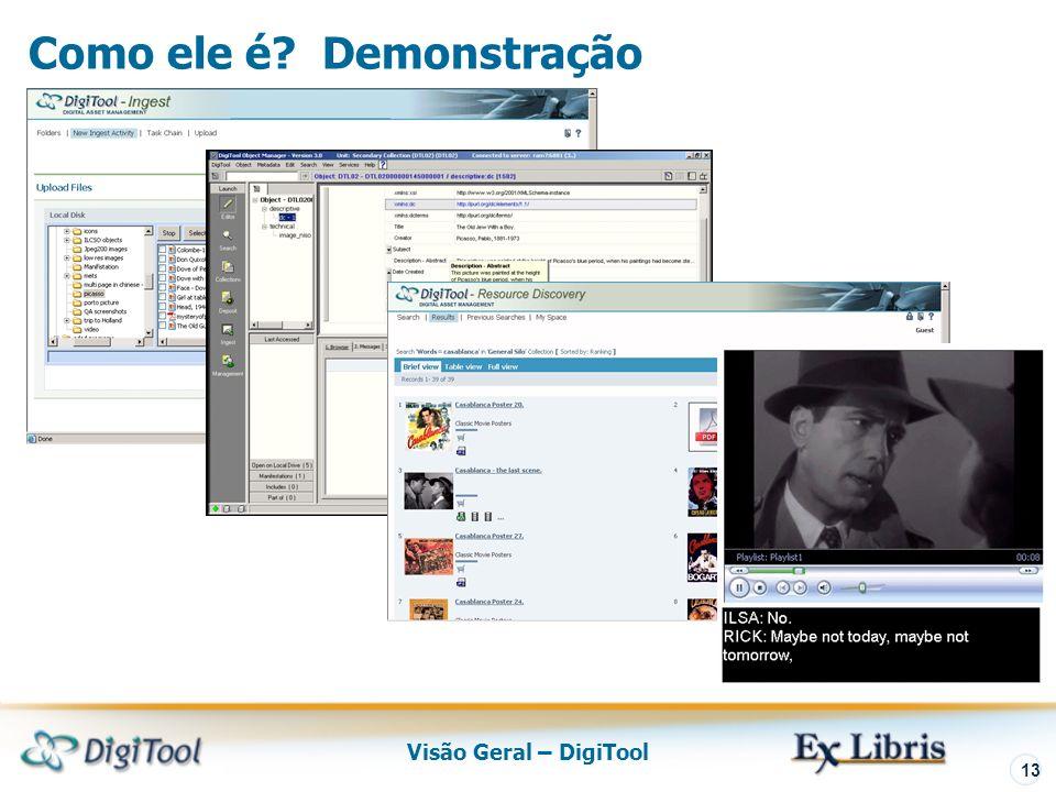 Visão Geral – DigiTool 13 Como ele é Demonstração