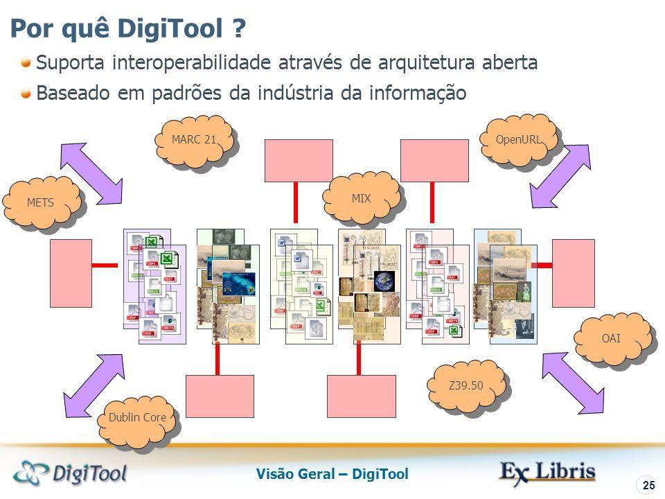 Visão Geral – DigiTool 25 Por quê DigiTool .