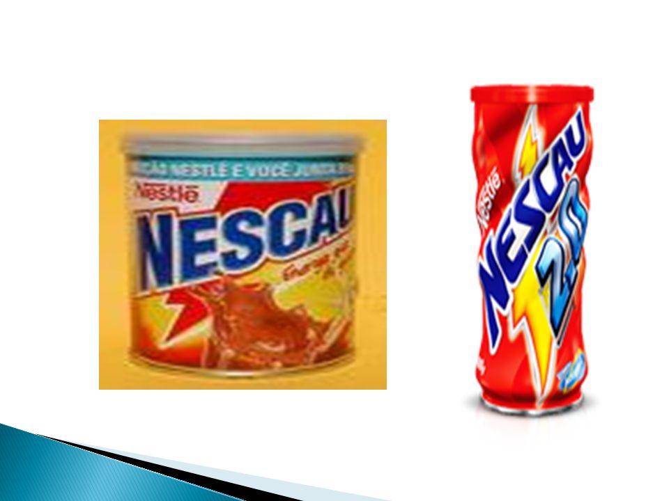 Nescau após 75 anos liderando no mercado no segmento, a Nestlé visando atender um publico especifico de achocolatado alterou a formula do nescau tradicional.