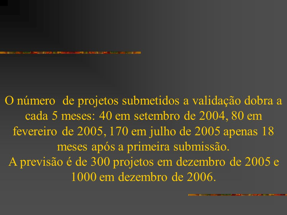 (Source: State and Trends of the Carbon Market 2005, F. Lecocq and K. Capoor, World Bank, 2005)