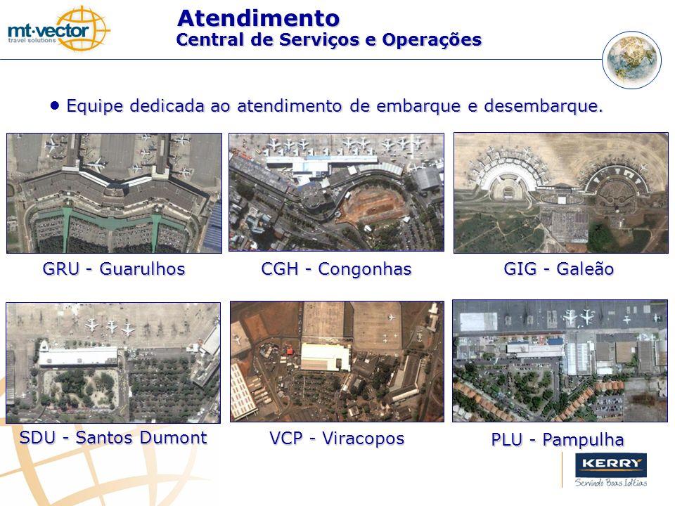 Equipe dedicada ao atendimento de embarque e desembarque. GRU - Guarulhos CGH - Congonhas GIG - Galeão SDU - Santos Dumont VCP - Viracopos PLU - Pampu