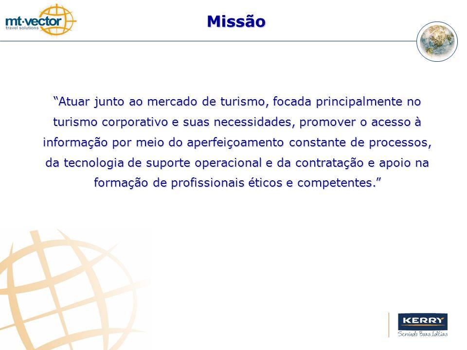 Missão Atuar junto ao mercado de turismo, focada principalmente no turismo corporativo e suas necessidades, promover o acesso à informação por meio do