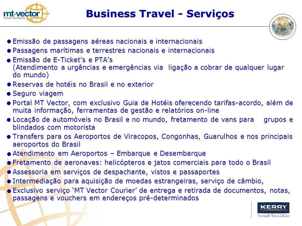 Emissão de passagens aéreas nacionais e internacionais Passagens marítimas e terrestres nacionais e internacionais Emissão de E-Tickets e PTAs (Atendi