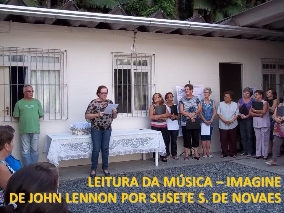 LEITURA DA MÚSICA – IMAGINE DE JOHN LENNON POR SUSETE S. DE NOVAES